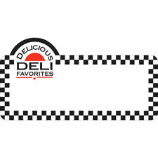 Write On Merchandising Tag Deli Delicious Imprint White Heat Resistant 4 1/4 L