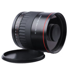 900mm f/8 HD Manual Focus Telephoto Mirror Lens With T mount For Canon Cameras