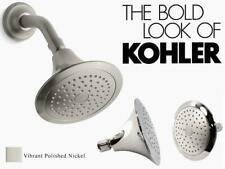 Kohler Shower Head Round Rain Spray Bathroom Fixed Showerhead Polished Nickel