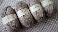 100% Wool Goat Down Gray Knitting Yarn Lot 4 sks 200g/7oz-1000m/1093yds Russia