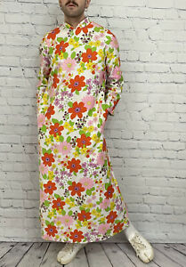House of Ming 60s Vintage Psychedelic Floral Space Age Cult Dress Size L