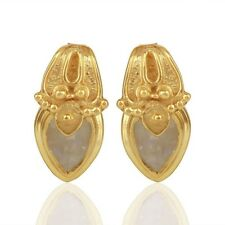 Rainbow Moonstone 925 Sterling Silver Stud Earrings Handmade Wedding Jewelry