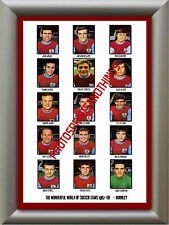BURNLEY - 1967-68 - REPRO STICKERS A3 POSTER PRINT