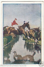 Hunting jumping Equitation Sport Saut d'obstacles Germany IMAGE CARD 30s