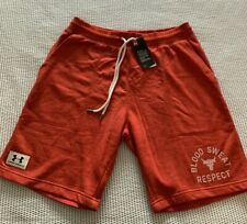 Under Armour x Project Rock Size Med Blood Sweat Respect Red Shorts 1326412-839
