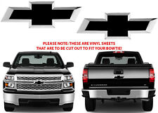 Gloss Black Vinyl Bowtie Decals For 2014-2018 Chevrolet Silverado New Free Ship