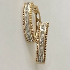 Huggie Earrings with Diamonds in 10ct Yellow Gold 3.45G Michael Hill RRP $899