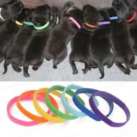 12 x Whelping Puppy Reusable Band Kitten Adjustable Nylon ID Collar Pet Dog Cat