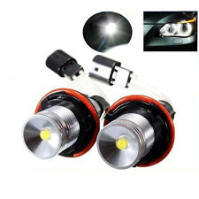 2x 10w ANGEL EYES 6000k LED Blanco Anillo De Halo bombillas para BMW E39 E53