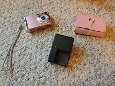 Sony Pink Cybershot Camera DSC-W80 w/case, battery, 1 GB memory stick & charger