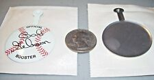vtg 1960s Bob Gibson Official Booster Cardinals Pinback fold tab UNOPENED NOS