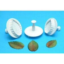 PME Veined Rose Leaf Plunger Cutters, 3-Piece Set