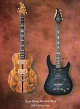 PRINT AD FOR Brian Moore Custom Shop DC-1 C-90 guitars