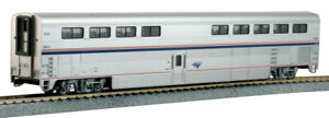 Kato 356073 Amtrak Superliner I - Diner Car Phase VI #38021 - HO Scale