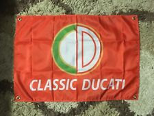 ducati motor bike man cave flag and bandana darma SD Ducati biker bar owtlaw usa