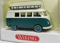 Wiking 1:87 VW T1 Bus mit Dachträger OVP 0797 34 cremeweiss / minttürkis