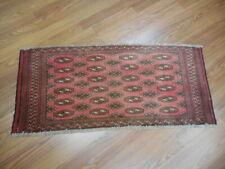 Vg Dy Antique Kazak Qashqai Turkeman Viss Serapi Heriz 1.7x3.4 Estate Sale Rug