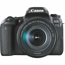 Canon EOS 77D 24.2MP Digital SLR Camera - Black (Kit w/ EF-S 18-135mm Lens) (Latest Model)