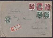 GERMANY, 1935. Reg Cover 542, 569-70, Berlin