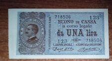 VITTORIO EMANUELE III BUONO DI CASSA DA 1 LIRA DEC.21/09/1914  FDS  A.