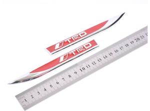 2pcs Chrome TRD Emblems,Blade Sticker 3D Logo for Toyota Yaris  Corolla-RED