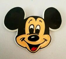 "Vintage Walt Disney Mickey Mouse Face Pin Plastic 2"" x 2.5"""