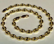 """18k Solid Yellow Gold Anchor Mariner chain/necklace 7 MM  90 Grams 28"""""""