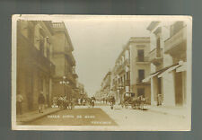 Mint Mexico Real Picture RPPC Postcard Veracruz Calle Cinco de Mayo