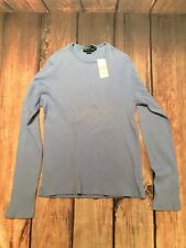 Polo Ralph Lauren Men's Ribbed Pullover Thermal Style Blue Shirt Sz M  NWT