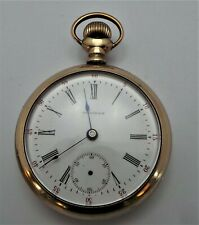 c1901 - Working / Spares Or Repair Antique Waltham Gold Plated Pocket Watch -