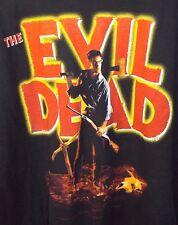 2001 The Evil Dead ASH Graphic Logo Men's Black Shirt XL HORROR MOVIE