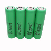 4pcs 18650 2500mAh 25R 3.7V Li-ion INR Battery Rechargeable High Drain for Vape