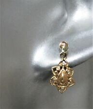 Dainty 9ct Gold Filigree Drop Earrings.  xcgd.