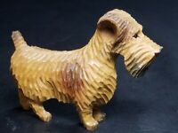 Vintage German Black Forest Brienz Wood Carving Figurine Scottish Terrier Dog