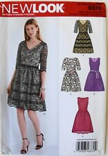 New Look 6370 Misses Dresses Sewing Pattern Sz 8-18