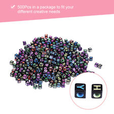 500Pcs Cube Alphabet Letter Beads DIY Jewelry Making Bracelet Necklace Bead