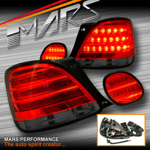 JDM Smoked Red LED Tail lights & Garnish Trunk Lamps for Lexus GS300 JZS160R