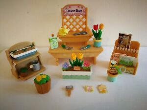 Sylvanian Families Village Flower Shop Stall