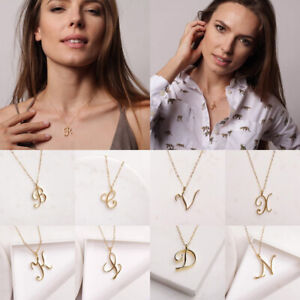 1PC Love Gold Initial Exquisite Word Letter Name Necklace Alphabet Party Gifts