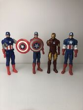 Hasbro 12� Marvel Captain America And Iron Man Action Figures Lot