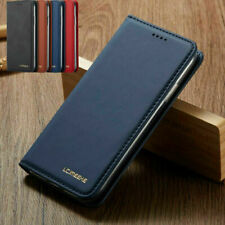 Premium Slim Leather Case Flip Wallet Cover For iPhone 6 7 8 XR 11 Pro Max XS 12