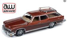Auto World Buick Estate Vagón 1974 Marrón Con Madera Moldura 64222 Caja 1/64