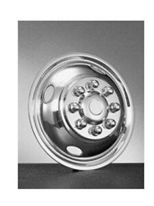 "Ford E350 e450 Motorhome Hubcaps wheel simulator 16"" 8 lug 4 hole snap on front"