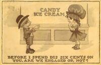 Comic Humor 1912 Ice Cream Romance Children Postcard Gold Medal 12676