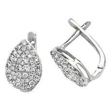 Unbranded Drop/Dangle White Gold Fine Diamond Earrings