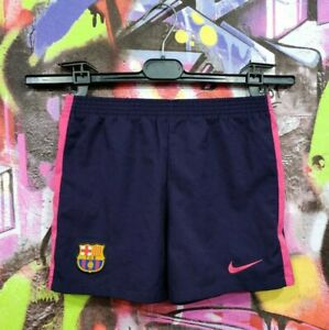 Barcelona Spain Barca Football Soccer Training Shorts Nike Boys Size L 6-7Years