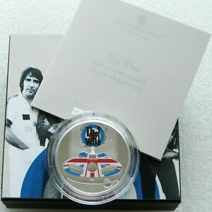 2021 Great Britain Music Legends The Who £2 Silver Proof 1oz Coin Box Coa