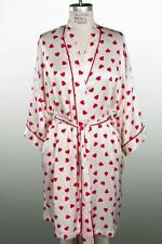 Alexa Women's 100% Genuine SILK Robe Valentines Day Hearts NEW Medium M kimono