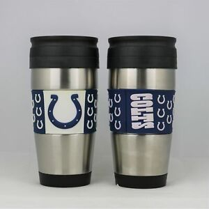 Indianapolis Colts NFL Officially Licensed 15oz Stainless Steel Tumbler w/ PVC W