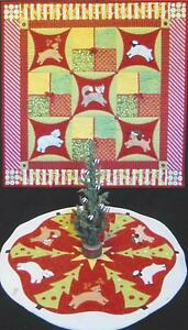 Christmas Critters Quilt & Tree Skirt quilt pattern by Annie's Keepsakes